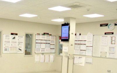 noticeboard in an office - honeywell