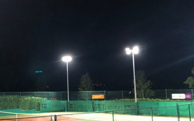 ballinlough tennis club - tennis courts at night