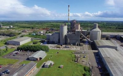 aerial view of lagan cement