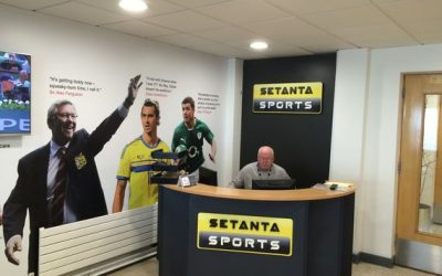 reception desk at setanta sports