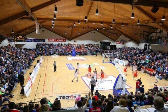 basketball match at national basketball arena in tallaght, dublin