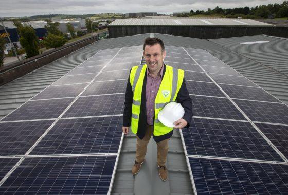 Paul Martin on Verde Energy Group Office roof